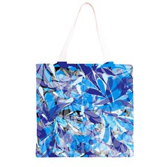 Abstract Floral Grocery Light Tote Bag