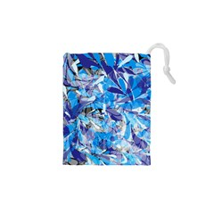 Abstract Floral Drawstring Pouches (XS)