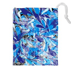 Abstract Floral Drawstring Pouches (xxl)