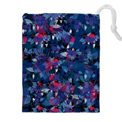Abstract Floral #3 Drawstring Pouches (XXL)