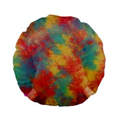 Abstract Elephant Standard 15  Premium Round Cushions