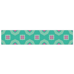 Pink Flowers And Other Shapes Pattern  Flano Scarf