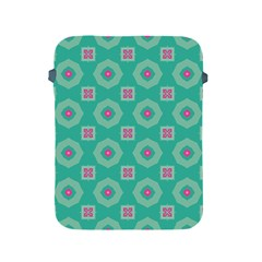 Pink Flowers And Other Shapes Pattern  apple Ipad 2/3/4 Protective Soft Case