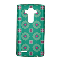 Pink flowers and other shapes pattern  LG G4 Hardshell Case