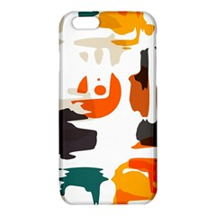 Shapes in retro colors on a white background 			iPhone 6/6S TPU Case