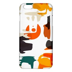 Shapes in retro colors on a white background 			iPhone 6 Plus/6S Plus TPU Case