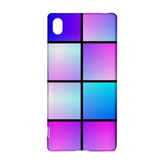 Gradient Squares Pattern  sony Xperia Z3+ Hardshell Case