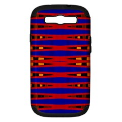 Bright Blue Red Yellow Mod Abstract Samsung Galaxy S Iii Hardshell Case (pc+silicone)