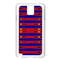Bright Blue Red Yellow Mod Abstract Samsung Galaxy Note 3 N9005 Case (white)