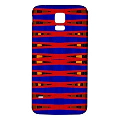 Bright Blue Red Yellow Mod Abstract Samsung Galaxy S5 Back Case (white)