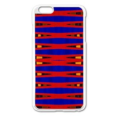Bright Blue Red Yellow Mod Abstract Apple Iphone 6 Plus/6s Plus Enamel White Case