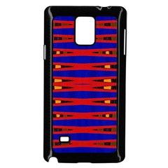 Bright Blue Red Yellow Mod Abstract Samsung Galaxy Note 4 Case (black)
