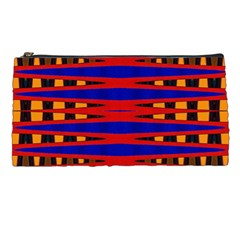 Bright Blue Red Yellow Mod Abstract Pencil Cases