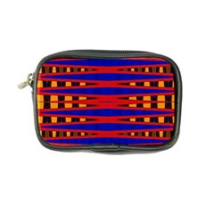 Bright Blue Red Yellow Mod Abstract Coin Purse