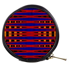 Bright Blue Red Yellow Mod Abstract Mini Makeup Bags