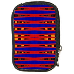 Bright Blue Red Yellow Mod Abstract Compact Camera Cases