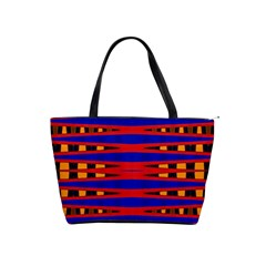 Bright Blue Red Yellow Mod Abstract Shoulder Handbags