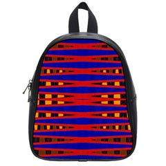 Bright Blue Red Yellow Mod Abstract School Bags (small)
