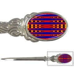 Bright Blue Red Yellow Mod Abstract Letter Openers