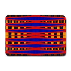 Bright Blue Red Yellow Mod Abstract Small Doormat