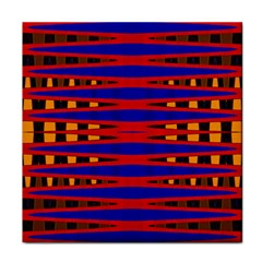 Bright Blue Red Yellow Mod Abstract Face Towel