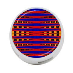 Bright Blue Red Yellow Mod Abstract 4 Port Usb Hub (two Sides)