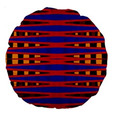 Bright Blue Red Yellow Mod Abstract Large 18  Premium Round Cushions