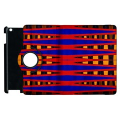 Bright Blue Red Yellow Mod Abstract Apple Ipad 3/4 Flip 360 Case