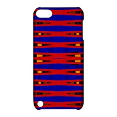 Bright Blue Red Yellow Mod Abstract Apple Ipod Touch 5 Hardshell Case With Stand