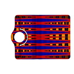 Bright Blue Red Yellow Mod Abstract Kindle Fire Hd (2013) Flip 360 Case