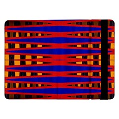 Bright Blue Red Yellow Mod Abstract Samsung Galaxy Tab Pro 12 2  Flip Case