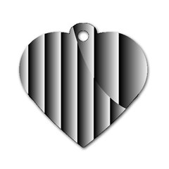 New 13 Dog Tag Heart (one Side)