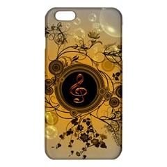 Decorative Clef On A Round Button With Flowers And Bubbles iPhone 6 Plus/6S Plus TPU Case