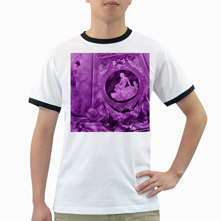 Vintage Purple Lady Cameo Ringer T-Shirts