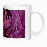 Vintage Purple Lady Cameo Night Luminous Mugs Right