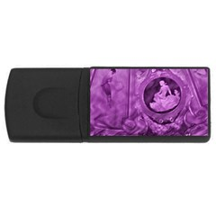 Vintage Purple Lady Cameo Usb Flash Drive Rectangular (4 Gb)