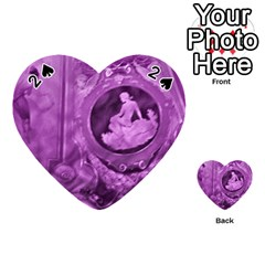 Vintage Purple Lady Cameo Playing Cards 54 (heart)