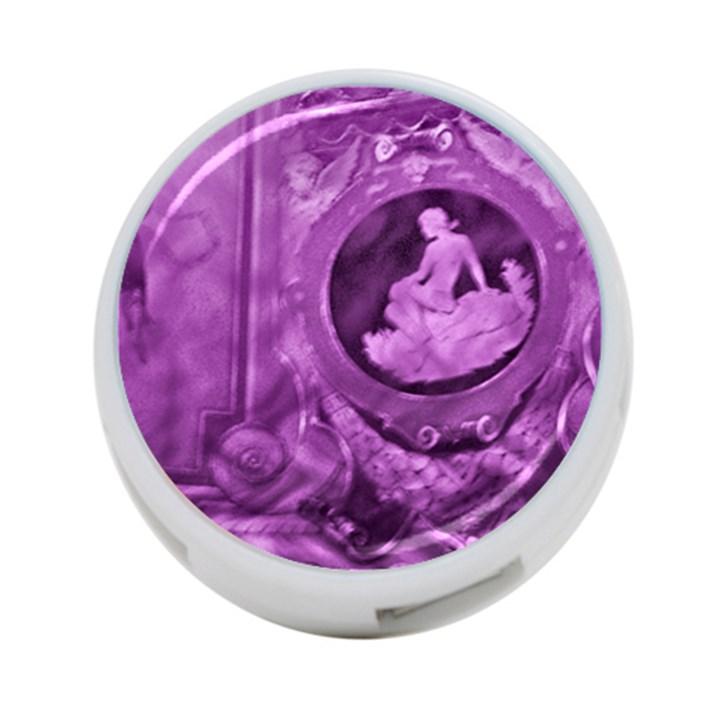 Vintage Purple Lady Cameo 4-Port USB Hub (One Side)