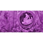 Vintage Purple Lady Cameo Best Wish 3D Greeting Card (8x4)  Front