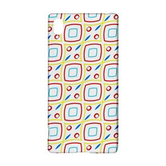 Squares rhombus and circles pattern  Sony Xperia Z3+ Hardshell Case