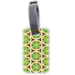 Blue Yellow Flowers Pattern 			luggage Tag (one Side)