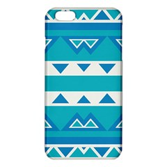 Blue Triangles And Stripes  			iphone 6 Plus/6s Plus Tpu Case