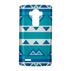 Blue triangles and stripes  LG G4 Hardshell Case