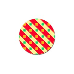 Squares And Stripes    golf Ball Marker