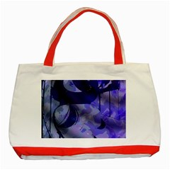 Blue Theater Drama Comedy Masks Classic Tote Bag (red)