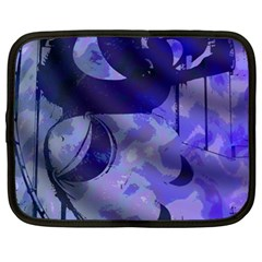 Blue Theater Drama Comedy Masks Netbook Case (xl)