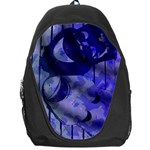 Blue Theater Drama Comedy Masks Backpack Bag Front