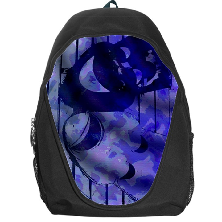 Blue Theater Drama Comedy Masks Backpack Bag