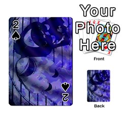 Blue Theater Drama Comedy Masks Playing Cards 54 Designs