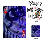 Blue Theater Drama Comedy Masks Playing Cards 54 Designs  Front - Heart2